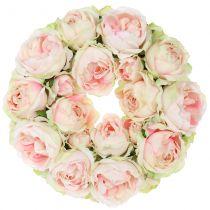 Rosary creme / pink Ø30cm