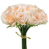 Rosebuket fersken Ø22cm