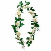 Romantisk rosenkrans, silkeblomst, kunstig rosenrør 160cm