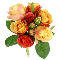 Buket med orange roser Ø17cm L25cm