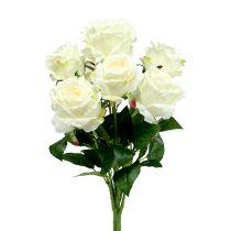 Rose buket hvid, creme 55cm