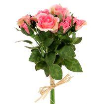 Rosebuket i lyserød L26cm 3stk