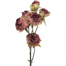 Kunstig rose, borddekoration, kunstig blomsterrosa, antik rosegren L53cm