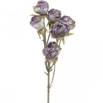 Rosegren, silkeblomst, borddekoration, kunstigt rosenlilla antikt look L53cm