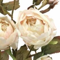 Kunstig rosegren creme hvid 76cm