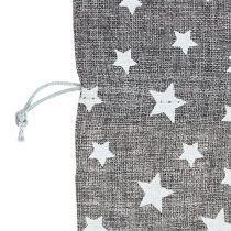 Taske med stjerner Ø23cm H35cm grå