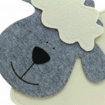 Får stående filtcreme, grå 51 × 7 cm H47cm