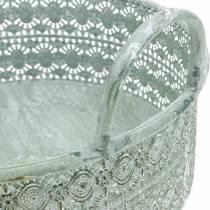 Dekorativ skål metal med håndtag Vintage cachepot sæt med 3