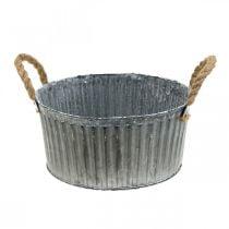 Dekorativ skål, planter med håndtag, blomsterskål til plantning af Ø25cm