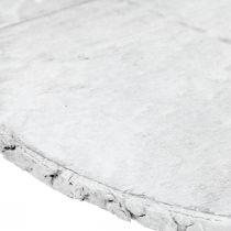Dekorativ træskive med barkhvid coaster lavet af krydsfiner Ø20cm