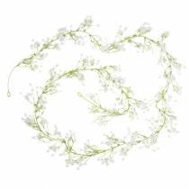 Flerårig brudeslør guirlande med øjne Hvidt 180cm Bryllupsdekoration