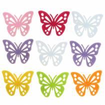 Filt sommerfuglbord dekoration Assorteret 3,5 × 4,5 cm 54 stykker Forskellige farver