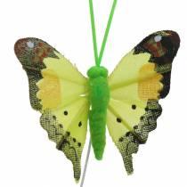 Dekorativ sommerfugl med tråd assorteret 5cm 24stk