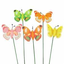 Blomsterstift sommerfugltræ assorteret 7,5 cm 16stk