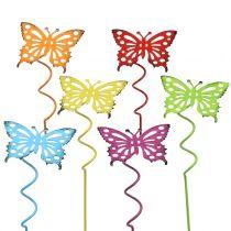 Blomsterstift sommerfuglfarverig 22 cm 12stk