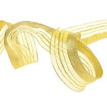Smykkebånd med lurex striber guld 40mm 20m