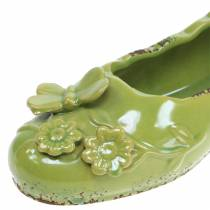 Planter kvinders sko keramisk grøn 24cm