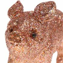Dekorativ svinglitter pink 10 cm 8stk