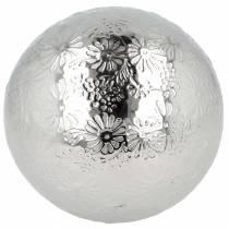Flydende kugleblomster sølvmetal Ø10cm