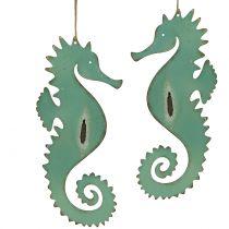 Dekorativ bøjle søhestgrøn 27 cm 2stk