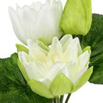 Vandliljer kunstig hvid 35 cm
