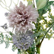 Silkeblomster i en flok, sommerdekorationer, krysantemum og sfæriske tidsler, kunstige blomster L50cm