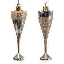 Champagneglas til at hænge lys guld 10 cm 8stk