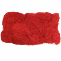 Sisal rød 500g naturlig fiber