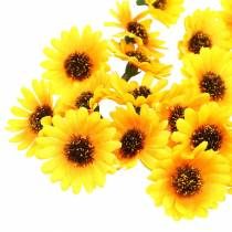 Spredt dekoration solsikkehoveder gul Ø3,3cm 100p