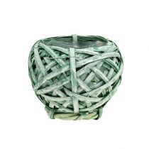 Chip kurv rund grøn Ø15cm H14cm