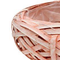 Spånplade rund Ø25cm H10cm orange