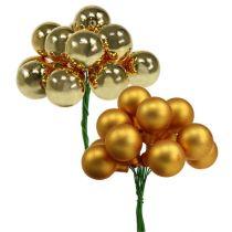 Mini julekugler Gold Mix 25mm 140stk