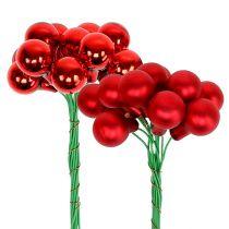 Spejlbær rød mat, blank Ø1,5cm 140p