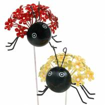 Haveprop blomst mariehøne rød, gul assorteret 2stk