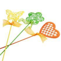 Blomsterstikssæt forskellige farver 5,5 cm - 6 cm 12p