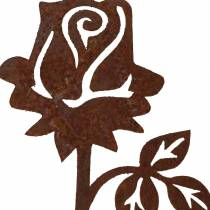 Metalprofil rose rustfrit stål metal 20cm × 8cm 12stk