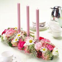 Blomsterskumdekor Super med klæbestrimler 2stk