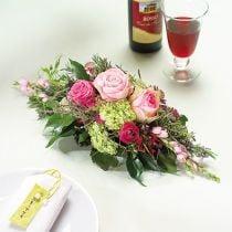 Blomsterskum 1/2 mursten Garnette 36 8stk