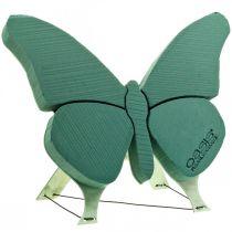 Floral skumfigur sommerfugl med stativ 56cm x 40cm
