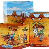 Penneholder sæt med cowboy motiv H 6-12cm