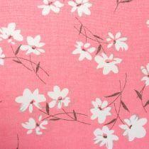 Dekorationsstof blomster lyserøde 30 cm x 3m