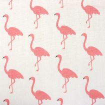 Dekorationsstof flamingo hvidrosa 30 cm x 3m