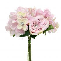 Buket af lyserød med perler 29cm