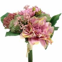 Buket blomster dahlia, protea 25cm