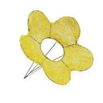 Sisal manchet gul Ø20cm blomstermanchet 8stk