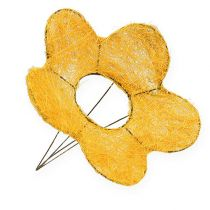 Sisal blomstmanschul gul Ø25cm 6stk