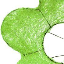 Sisal buketten manchet grøn Ø15cm 10stk