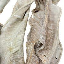 Dekorative blade strelitzia blade vaskede hvide 120 cm 10stk