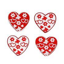Sprede hjerter sorteres. 3 cm 24p