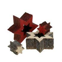 Træstjerner blandes til spredning af rød, grå 2 cm 96stk